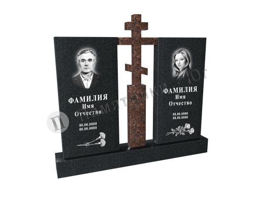 Эксклюзивный памятник с крестом на двоих